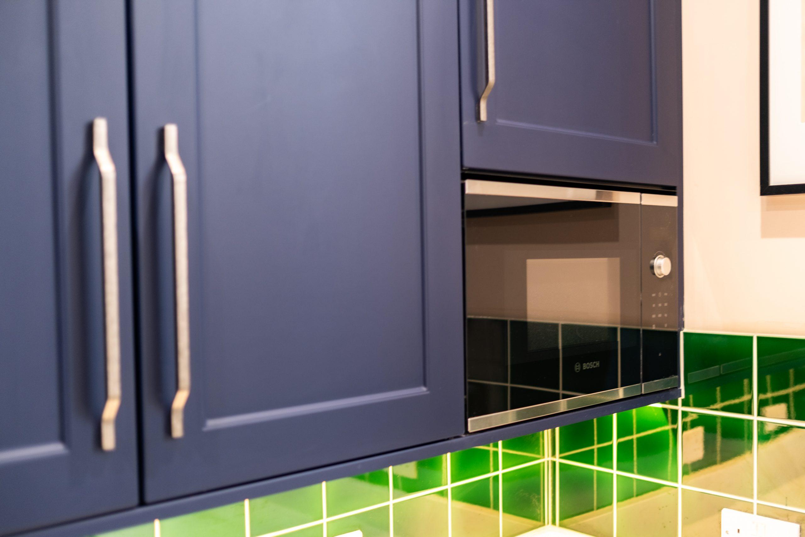 Navy on Green Kitchen